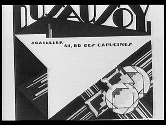 Carte réclame pour Dusausoy, joailler - imprimeur Draeger