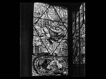 Pavillon des vitraux, saint-georges terrassant le dragon