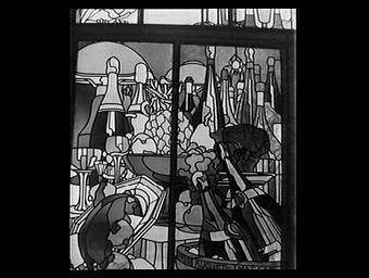 Pavillon des vitraux, la table