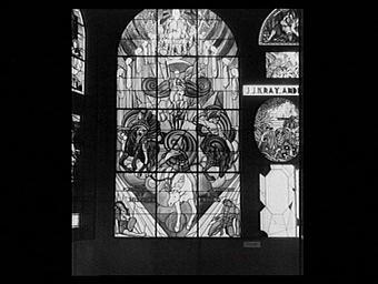 Pavillon des vitraux, scène de l'Apocalypse