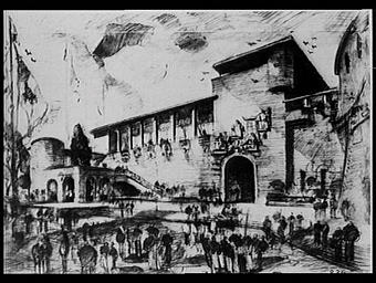 Exposition internationale ; projet ; pavillon d'exposition ; dessin