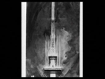 Exposition internationale ; projet ; dessin ; spectacle pyrotechnique ; tour