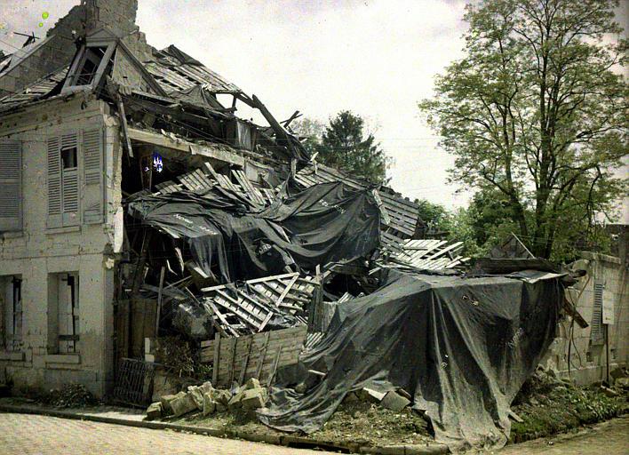 Angle de la rue des Minimes : ruines