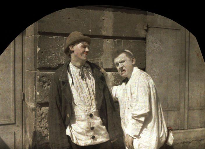 Le clown Footel et son fils