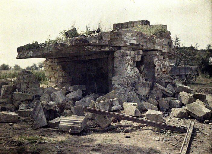 Abri allemand en béton armé
