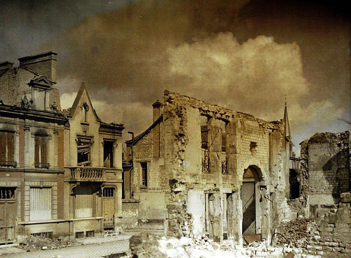 Maisons endommagées