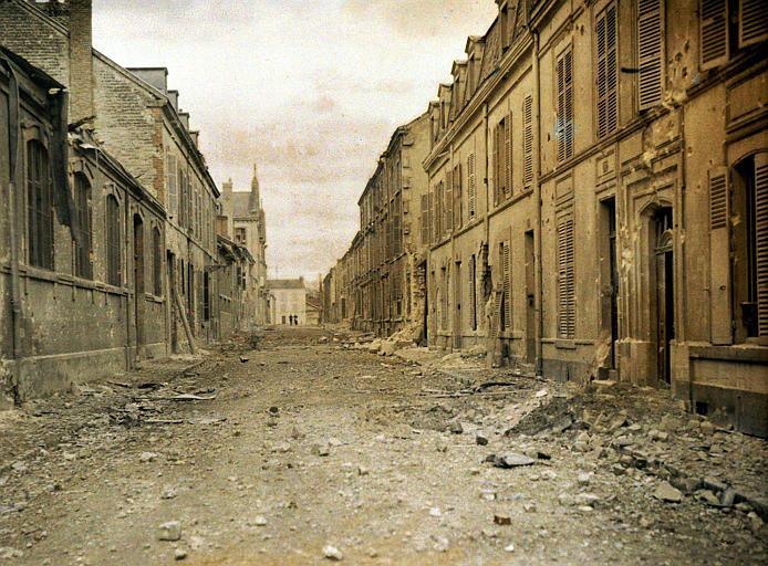 Etat deux heures après un bombardement