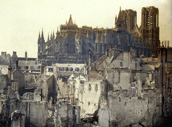 Quartier de l'Université : destructions au nord-est de la cathédrale