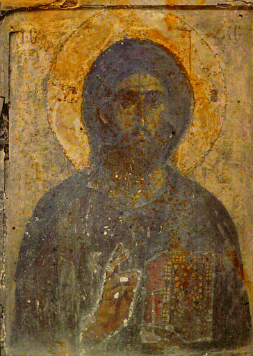 Peinture murale : le Christ