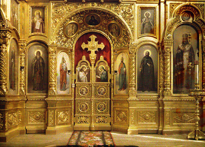 Iconostase monumentale du skite de Hagios Andreas (saint André)