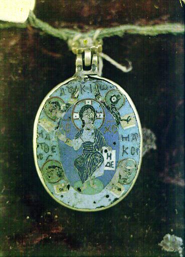 Petit médaillon byzantin en émail