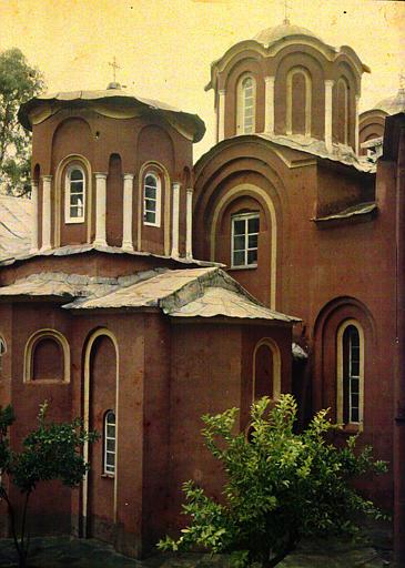 Coupole centrale du Katholicon du monastère