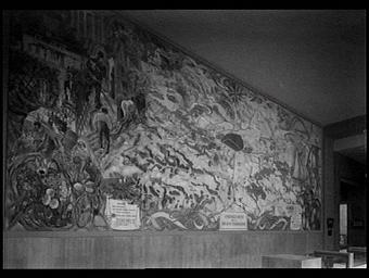 Panneau mural: aménagement de la région parisienne