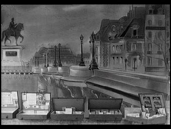 Fresque: le pont Henri IV à Paris