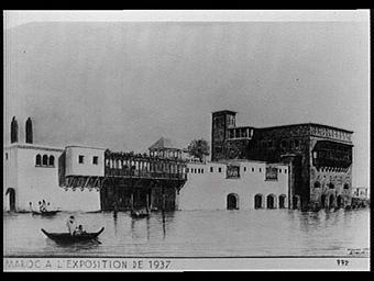 Dessin : Le Maroc à l'exposition de 1937
