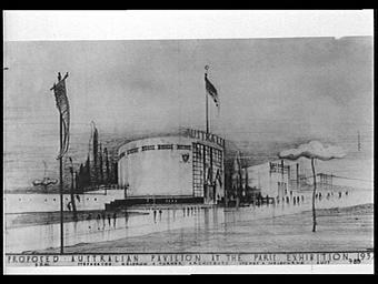 Dessin : Pavillon australien à l'exposition de 1937