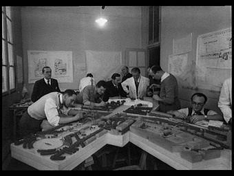 Bureau d'étude de la maquette de l'exposition
