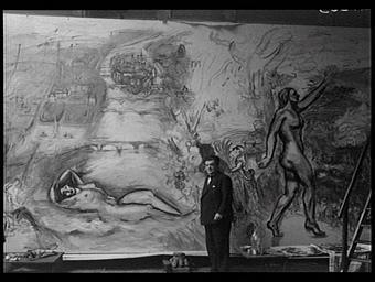 Peinture : Allégorie la Seine de sa source à Paris