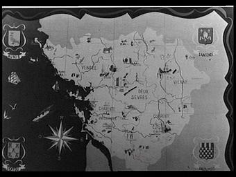 Carte régionale de l'Angoumois, du Poitou, de l'Aunis et du Saintonge