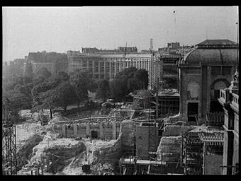 Construction de l'aile Passy du Palais de Chaillot