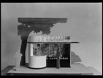 Maquette d'un kiosque à journaux