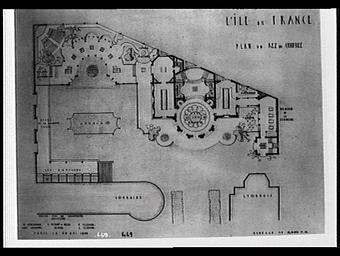 Plan du rez-de-chaussée du Pavillon de l'Ile-de-France