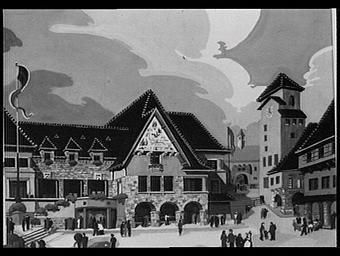 Aquarelle : le Pavillon du Périgord