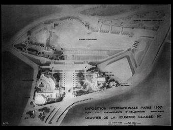 Plan des aménagements boulevard kellermann; Auberge de la jeunesse, annexe Kellermann ; Oeuvres de la jeunesse Classe 8e
