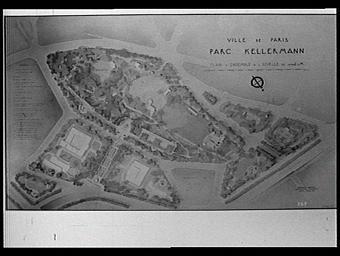 Dessin : Plan d'ensemble du Parc Kellermann