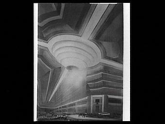 Projet de transformation du Grand Palais pour Les Floralies dans la nef du Grand Palais par Lambert et Arnoux