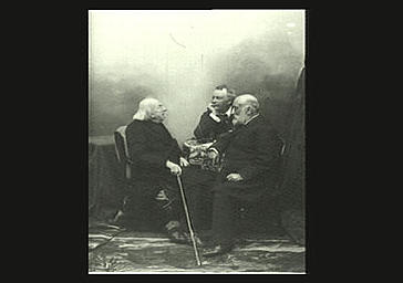 Chevreul s'entretenant avec son fils et Felix Nadar