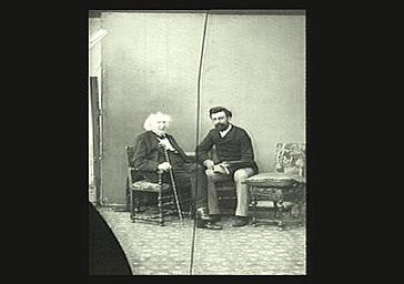 Chevreul et son directeur de laboratoire