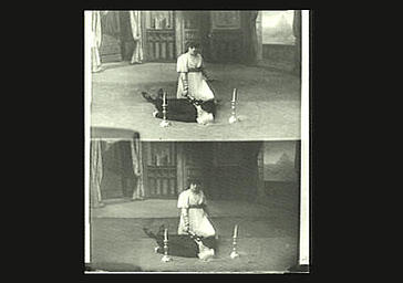 Sarah Bernhardt dans 'La Tosca', drame de Victorien Sardou