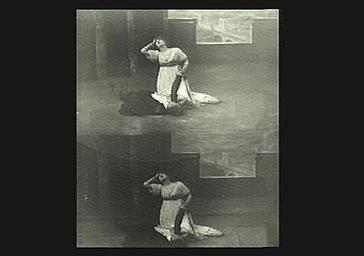 Sarah Bernhardt et Dumeny dans 'La Tosca'