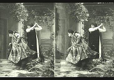 Sarah Bernhardt et Deval dans 'Gismonda'