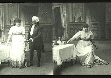 Sarah Bernhardt et P. Berton dans 'La Tosca'