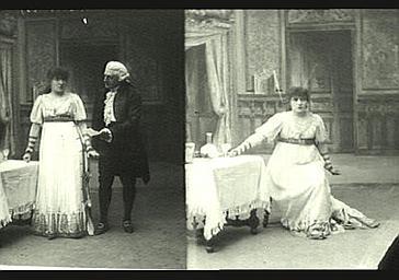Sarah Bernhardt : Tosca, P. Berton : Scarpia dans 'La Tosca', drame de Victorien Sardou