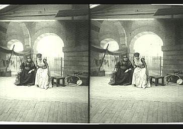 Sarah Bernhardt et Marie Laurent dans 'Théodora'