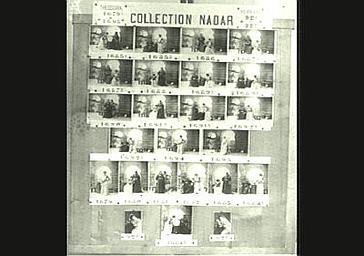 Planche de références de l'atelier Nadar : Sarah Bernhardt