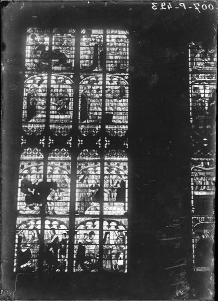 Transept, bras sud, mur ouest