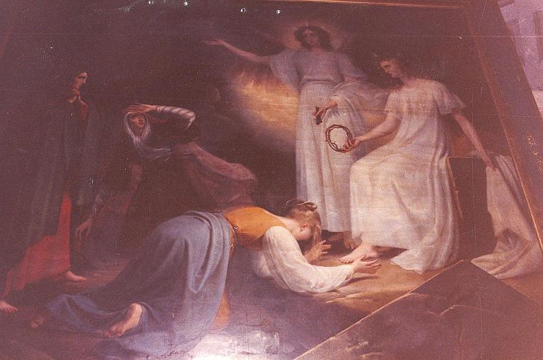 Tableau : Les saintes femmes au tombeau