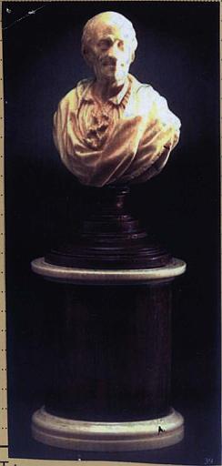 Buste de Voltaire âgé n?2