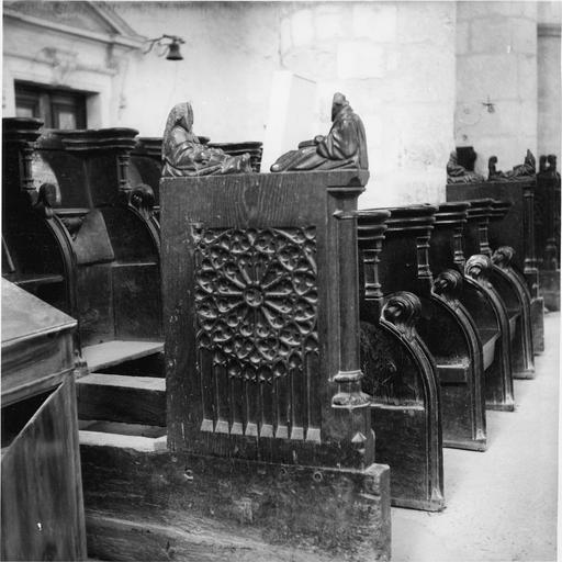 Stalles, bois sculpté 15e siècle, détail
