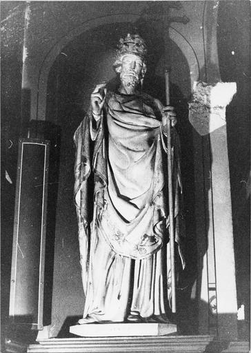 Statue de saint Sixte, bois peint, 19e siècle