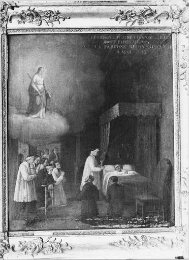 Peinture, la guérison de M.J-M Vianney, huile sur toile, 1843