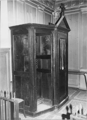 Confessionnal, bois, 19e siècle