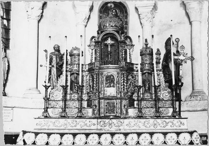 tabernacle en bois doré, 17-18e siècle