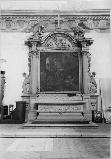 Tableau : Saint François Xavier guérissant les pestiférés, huile sur toile