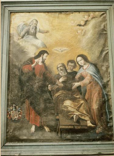 Tableau : La Mort de saint Joseph, toile, 17e siècle