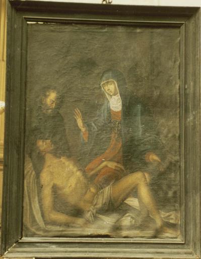 Tableau : Vierge de Pitié, toile, 17e siècle